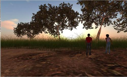 Screen shot of one of the virtual builds in the education project developed for schools in South Africa
