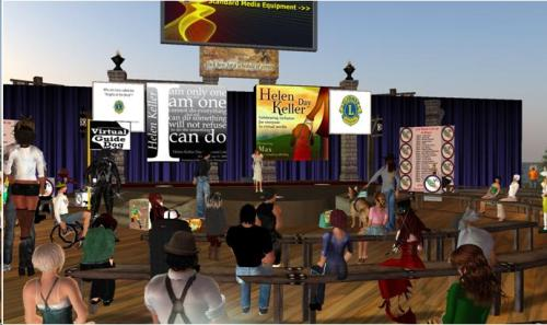 Screen shot from the Hellen Keller conference held in Second Life