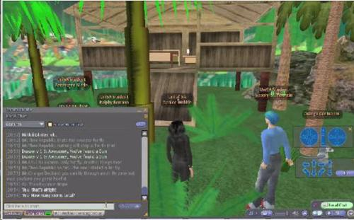 Students creating virtual game in Second Life