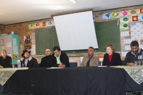 Press conference held at the Impala School in Lenasia