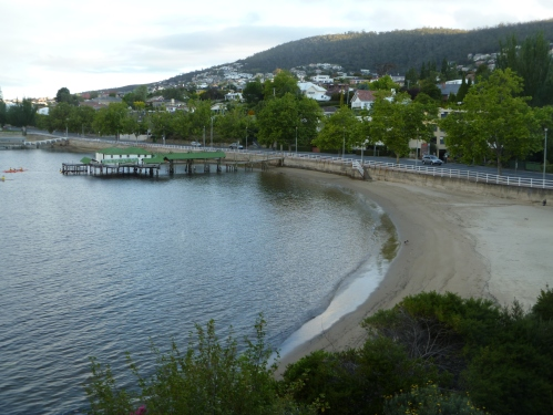 Water side view from my hotel room at the Wrestpoint Casino Hotel, venue for the 2011 ASCILITE conference, Hobart