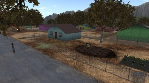 Children can rent their own virtual land and house in the virtual world where they can furnish their house and grow virtual vegetables to sell to the market