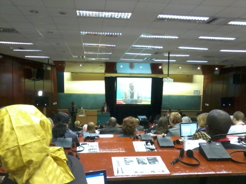Opening plenary session at the IAMCR conference at the University of Kwazulu Natal, Howard College Campus in Durban