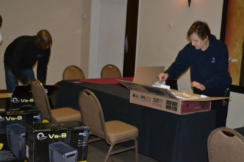 Setting up for the training sessions in Tzaneen, Limpopo Province, South Africa